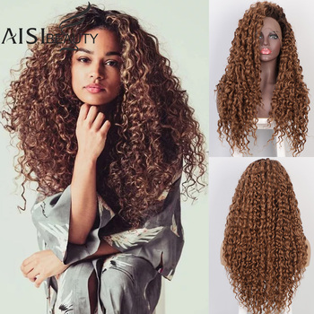 Aisibeauty Women's Wig Lace Front Wigs for Women Long Curly Pre Plucked Natural Hairline 130% High Temperature Nature Hair - discount item  30% OFF Synthetic Hair