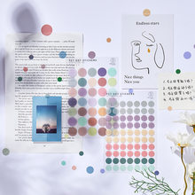 Mohamm 3Pcs Glas Serie PET Dot Aufkleber Dekoration Scrapbooking Papier Kreative Schule Liefert