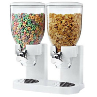 5L Double Cereal Dispenser Dry Food Storage Container Canister Machine Kitchen Storage Supplies Home Organizer Tools 2 Colors|Bottles Jars & Boxes| |  -