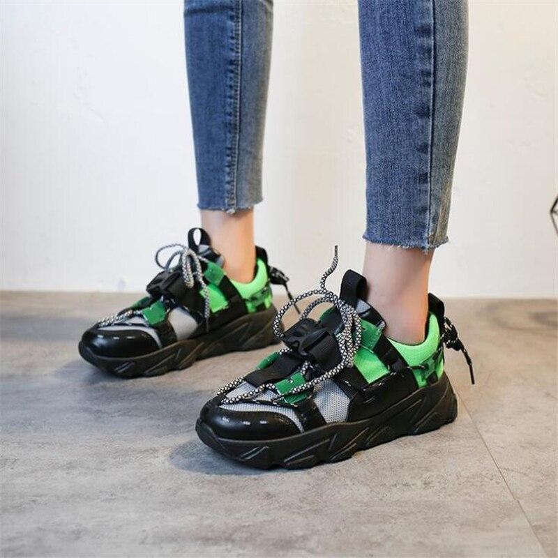Zapatos de mujer, zapatillas de deporte para mujer, zapatillas de deporte de plataforma gruesas con cuña a la moda, zapatillas de marca lujosa para mujer, zapatos de diseñador para mujer, zapatillas de deporte Nuevas Sandalias de plataforma ADBOOV, Sandalias gruesas de verano de suela gruesa para Mujer, Sandalias planas de 2 piezas, Sandalias de Mujer 2019