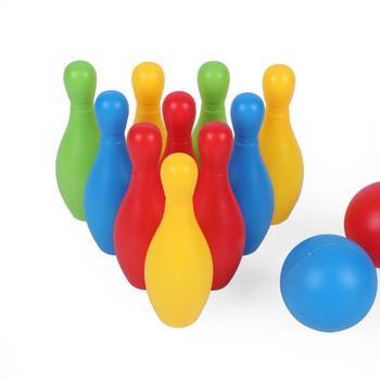 Kręgle dla dzieci zabawki z tworzyw sztucznych rozrywka sport rozrywka kręgle zestaw dla dzieci dzieci zabawa na świeżym powietrzu i sport zabawka 2020 gorąca sprzedaż tanie i dobre opinie Liplasting CN (pochodzenie) Żywica entertainment bowling set Perceptivity rozwoju (kolor kształt dźwięk vision) 11cm 14cm 17cm