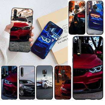 HPCHCJHM Blue Red Car for Bmw Bling Cute Phone Case for Huawei P40 P30 P20 lite Pro Mate 20 Pro P Smart 2019 prime image