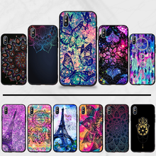 mandalas luxury Holder Relief Exotic DIY Art Painted Bling Phone Case For iphone 5 5s 5c se 6 6s 7 8 plus x xs xr 11 pro max(China)