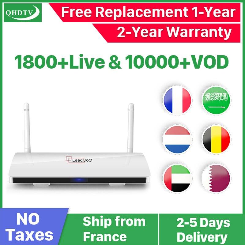 Leadcool IPTV Франция коробка Android французский арабский IPTV Rk3229 Leadcool QHDTV подписка 1 год Бельгия голландский арабский Франция IPTV