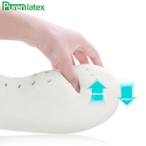 Image 5 - PurenLatex U Shape Latex Travel Pillow Neck Pillows Protect Cervical Spine Orthopedic Support Neck Release Pressure for Airplane