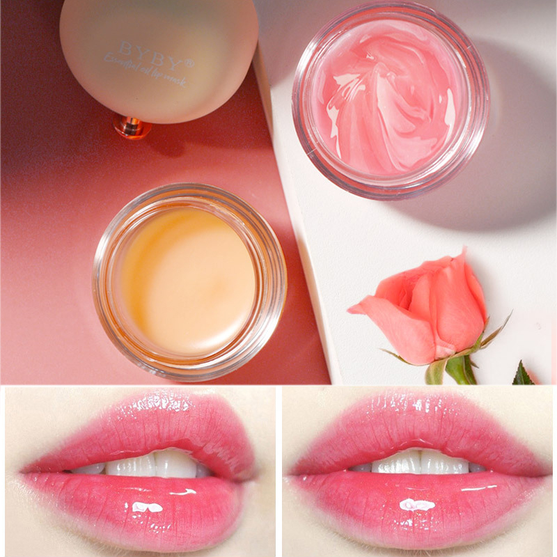 Korea Nourishing Lip Sleeping Mask Moisturizing Smooth Fine Lines Lip Balm Brighten Anti-drying Pink Lips Care Cream Essence