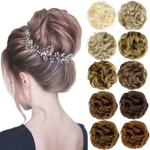 Hairpiece Bun-Hair Chignon Messy Synthetic Updo Elastic-Band Women SHANGZI for Tousled