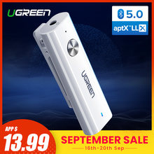 Ugreen Bluetooth 5,0 receptor 3,5mm APTX LL adaptador AUX para auriculares altavoz música inalámbrico Bluetooth 3,5 Jack Audio receptor(China)