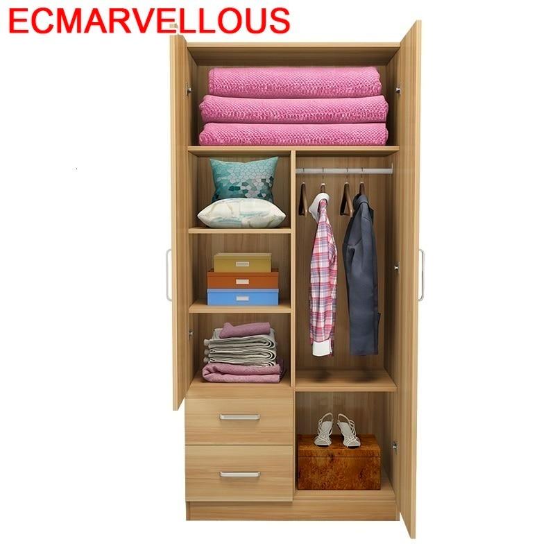 Garde-robe en bois Quarto Yatak Odasi Mobilya Shabby Chic placard en bois meubles De dortoir chambre armoire