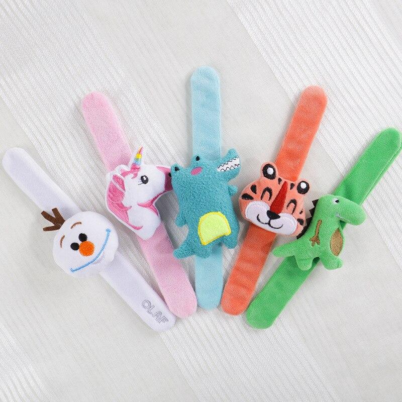 Creative Cartoon Animal Stuffed Plush Toys For Kids Girls Christmas Gift Plush Bracelet Unicorns Dinosaur Toys For Children
