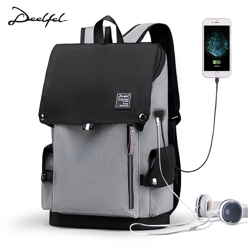 Casual Backpack Men's Backpack Fashion Trend Youth Men's Travel Fashion College Student Backpack Simple Computer Bag Mochila
