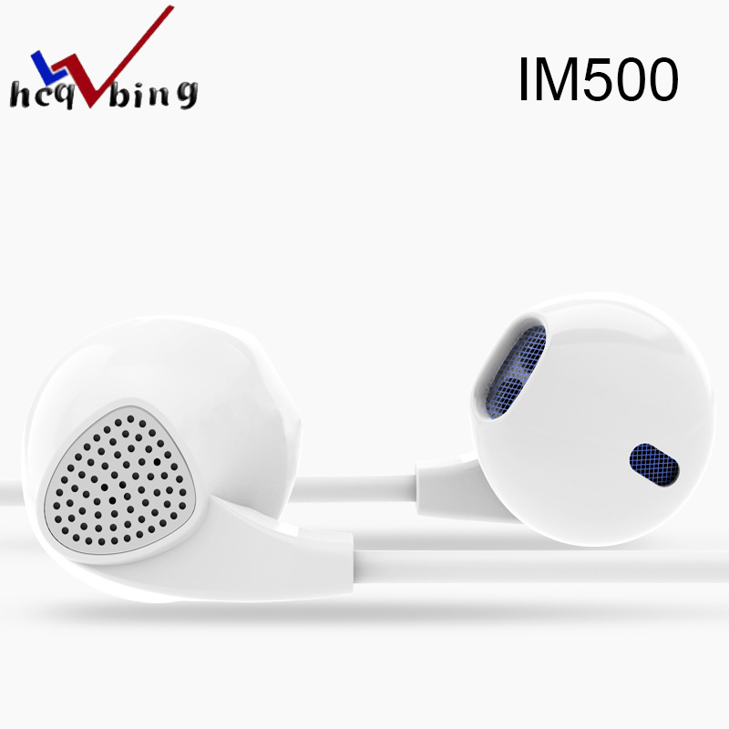 HCQWBING Original Brand IM500 Earphone Headphones Noise Canceling Headset with Microphone Stereo for Android IOS phone image