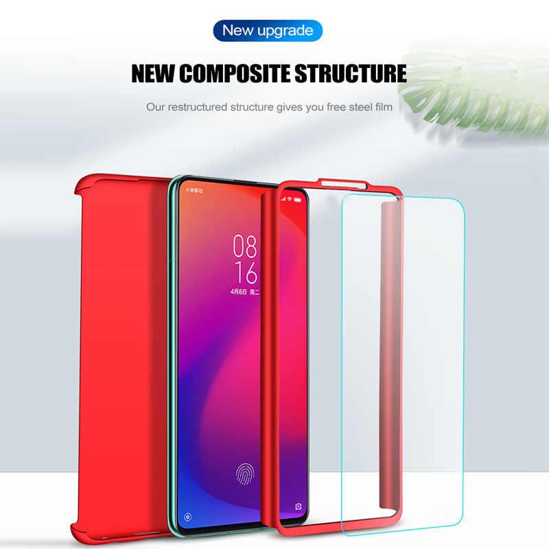 360 מלא כיסוי מגן טלפון מקרה עבור Xiaomi Redmi הערה 5 6 4 7 פרו מקרה Xiaomi Redmi K20 פרו 7A 5A 6A 4X S2 מקרה עם זכוכית