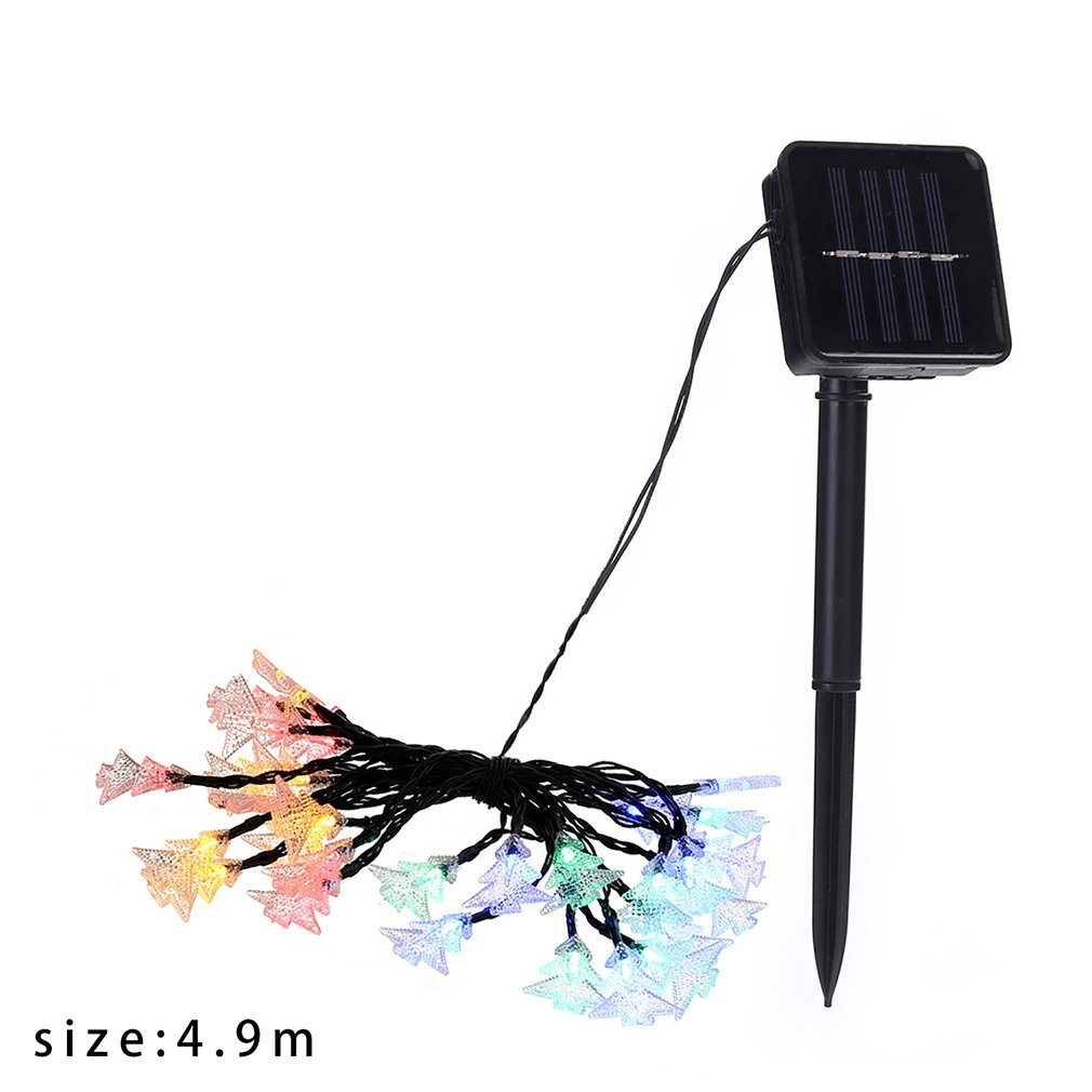 Butterfly Christmas Tree Starfish Takraw Ball String Light Fairy Solar Power Garland Outdoor Garden Party Patio Courtyard Street