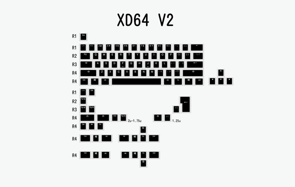 布丁V2-黑白-XD64 V2