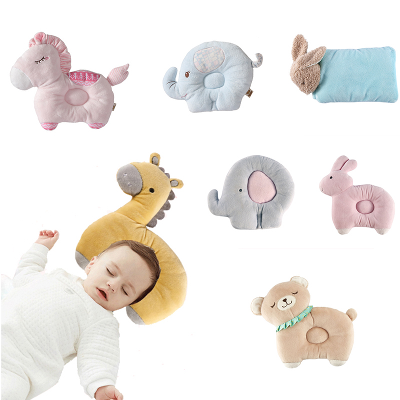 0-3 Years Old Breathable Stereo Protect Head Baby Pillow Newborn Cartoon Infant Shaping Nursing Pillow Kids Room Decoration