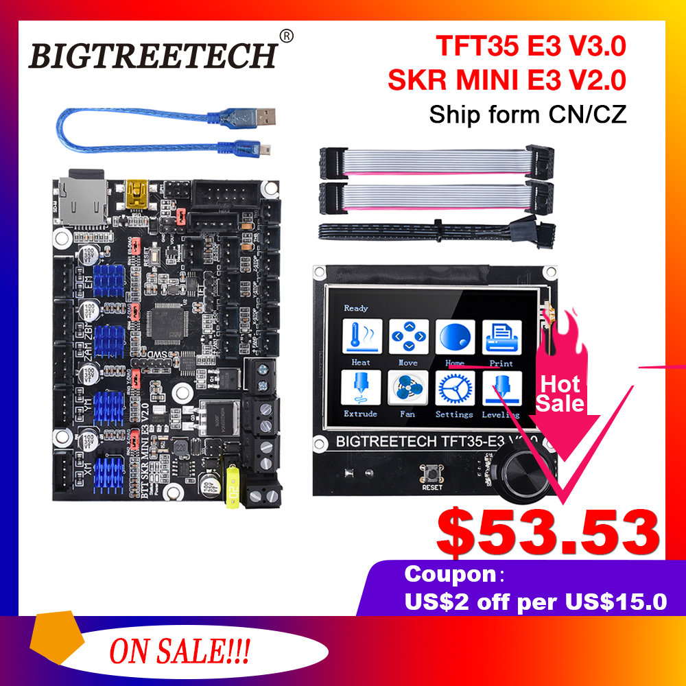 BIGTREETECH SKR MINI E3 V2 0 TFT35 E3 V3 0 Touch Screen Motherbaord Integrate TMC2209 For Ender 3 pro Printer Cr10 Updated