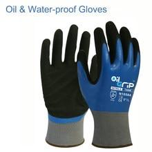 10 paires de gants de travail de sécurité protecteurs trempés en Nitrile