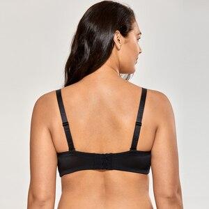 Image 3 - Delimira Womens No Padding Underwire Ultra Support Convertible Strapless Bra
