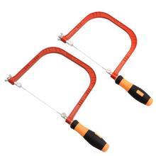 Регулируемая Мини-Кривая проволочная пила стальная рама, Вибрирующая пила, многофункциональная фретпила, конфорка, удобный, не легко сломать руку