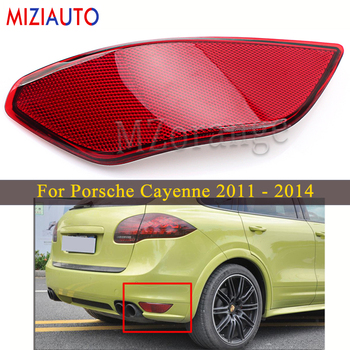 Rear Bumper Reflector light For Porsche Cayenne 2011 2012 2013 2014 Tail Stop Brake Lights Car parts Rear turn signal Fog lamp led rear tail lights for ford transit 2014 tail stop brake lights european version car accessories rear turn signal fog lamp