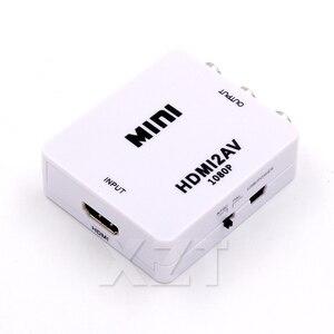 Image 3 - HDMI לav Scaler מתאם HD וידאו Composite ממיר Box RCA AV/CVSB L/R וידאו 1080P מיני HDMI2AV תמיכה NTSC PAL חדש