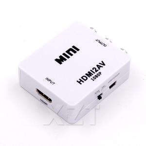 Image 3 - HDMI to AV Scaler Adapter HD Video Composite Converter Box HDMI to RCA AV/CVSB L/R Video 1080P Mini HDMI2AV Support NTSC PAL New