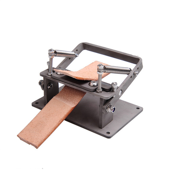 New Stainless Steel Craft Leather Strips Belt Manual Thinning Machine DIY Cutting Peeler Tools +8 Pcs Blades 10MM*18MM