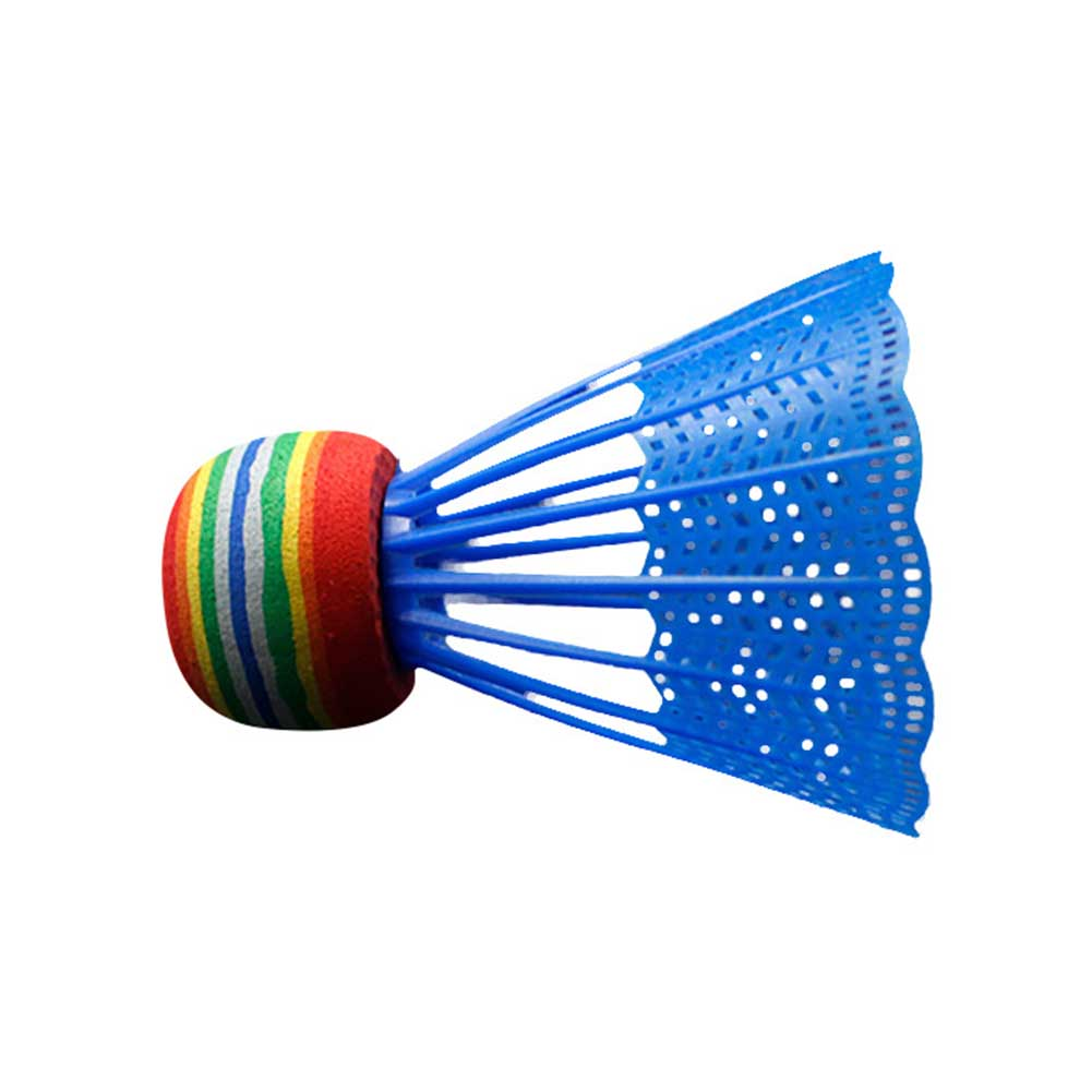 10pcs Game Sport Reusable Rainbow Head Outdoor Gym Training Nylon Ball With Transparent  Durable Practice Indoor Badminton