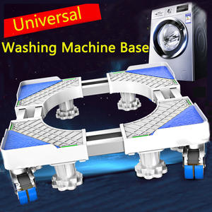 Washing Machine Base Stand Multi-Functio Trolley Feet Movable Adjustable Telescopic Fridge Stand Wheel for Dryer Refrigerator