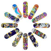 Для детей партия из 5 пар Мини Пальчиковый скейтборд модные