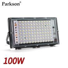 Światło halogenowe LED 100W AC 220V 230V 240V wodoodporny IP65 reflektor reflektor LED zewnętrzna lampa uliczna oświetlenie
