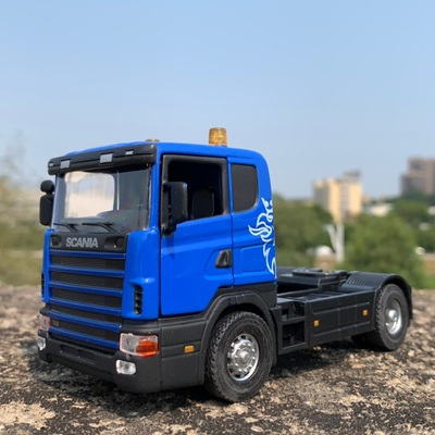 1:43 Sacle Alloy Scania Truck Head,high Simulation Renault Truck,Collecting Alloy Car Models,free Shipping