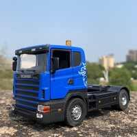 Cabeza de camión scania de aleación para 1:43, camión Renault de alta simulación, maquetas de coches de aleación colectora, envío gratis