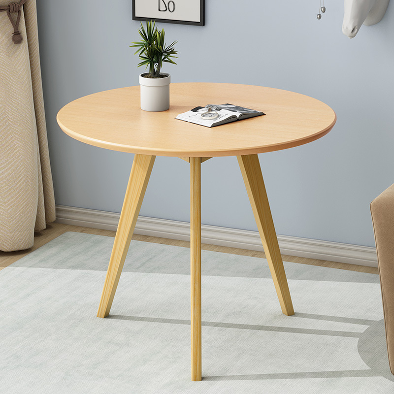 Wooden-Assembly Table Coffee-Desk Round Japanese Bedroom Small Strong Simple 60--60--70cm