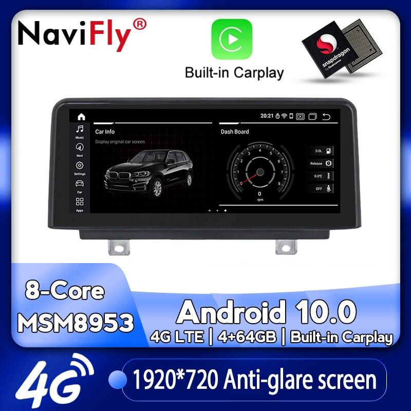 NaviFly Android 10,0 автомобильный мультимедийный плеер для BMW F30 F20 F31 F22 F21 F32 F33 F36 оригинальная NBT система Qualcomm Snapdragon 4G