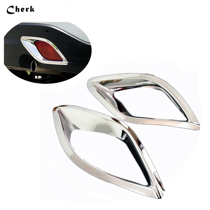 ABS Chrome For <font><b>Mazda</b></font> <font><b>CX</b></font>-<font><b>5</b></font> CX5 <font><b>2015</b></font> Car After Rear Tail Fog lights Lamp Foglight Shade Frame Trim cover Auto Accessories Styling image