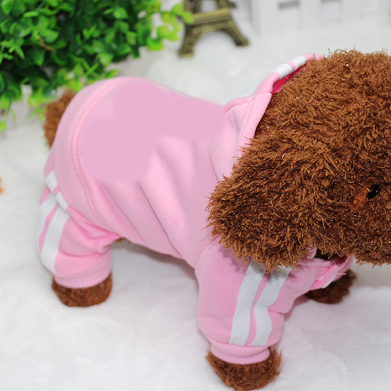 PUOUPUOU Winter Warm Pet Dog Clothes Hoodies Sweatshirt for Small Medium Dogs French Bulldog Sweet Puppy Dog Clothing XS-XXL 4