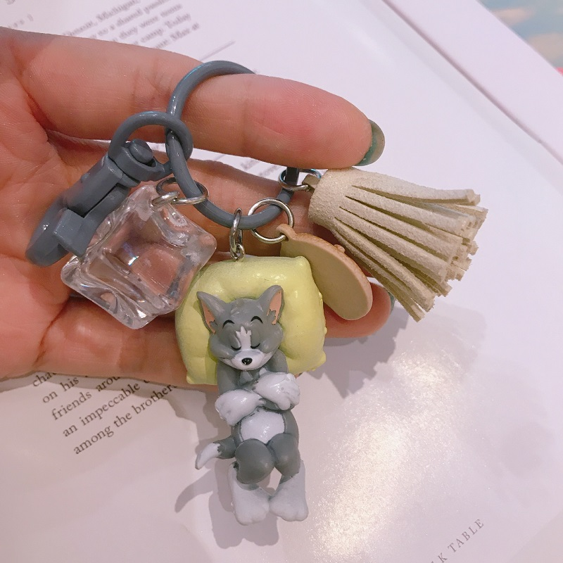 Lovely Cartoon Cat Key Rings Chains Pendant Ornaments For Bags Car Keychain Gift