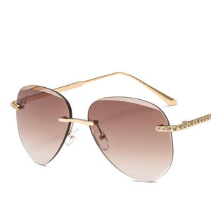 Classic Sunglasses Retro Frameless The Trend Small Fragrance United-States Street-Shooting