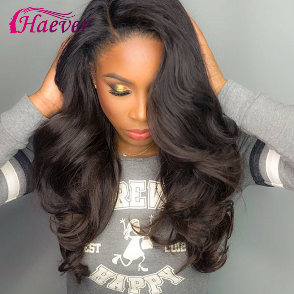 Haever 13*5 Closure Wig Human Hair Lace Frontal Wigs Peruvian Body Wave Wig For Black Women Pre Plucked Remy 150% Lace Front