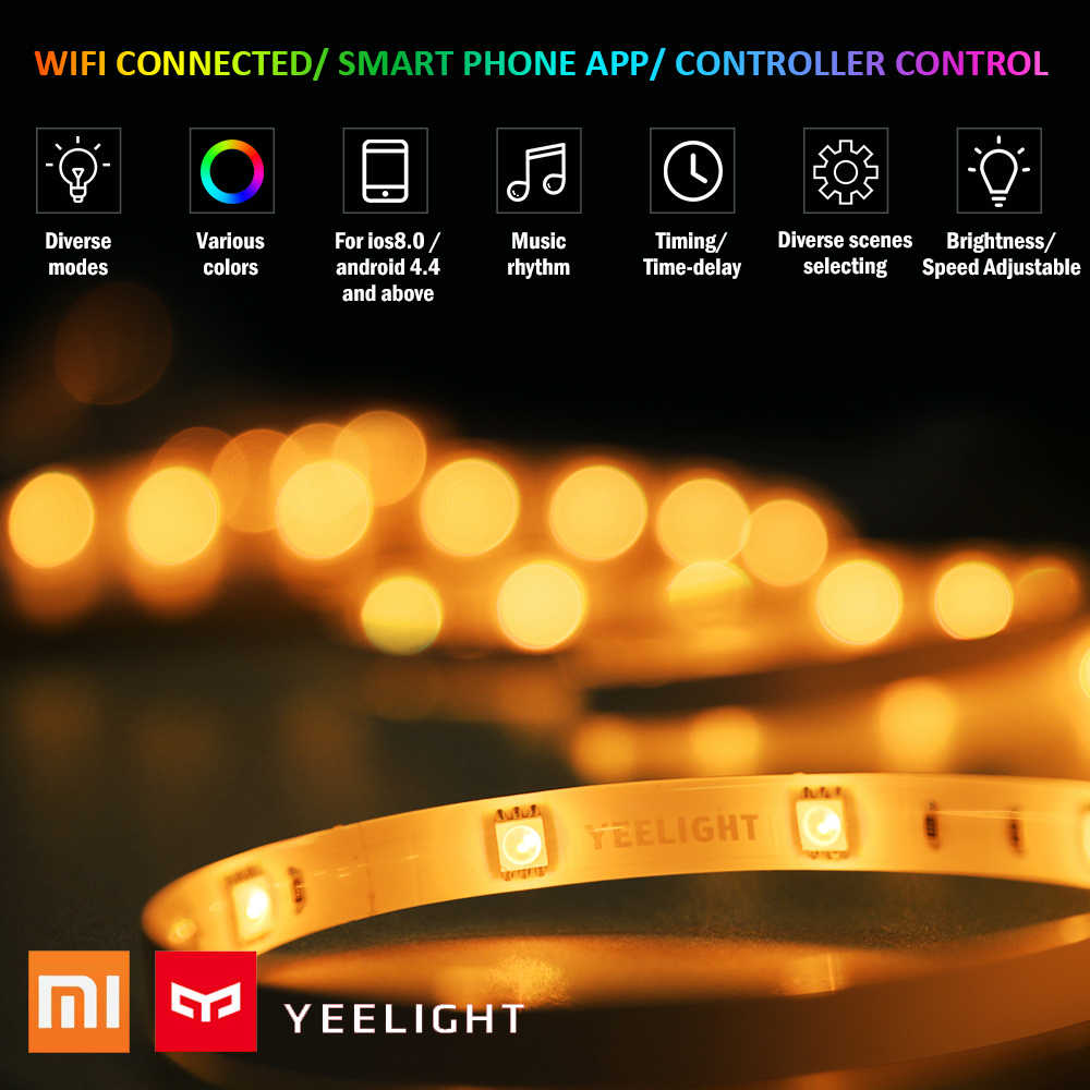 Yeelight WIFI מחובר RGB אינטליגנטי Led אור ערכת 2M טלפון App בקרת לבית סלון מסיבת מועדון בר פאב עבור xiaomi