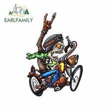 EARLFAMILY 13cm x 8.9cm dla Reaper Bobber czaszka motocykl samochód naklejki Anime akcesoria samochodowe odporne na zarysowania naklejki winylowa tablica naścienna
