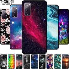 Coque en silicone souple pour téléphone multifonctions, protection arrière motif marbre et étoiles, en TPU pour Samsung S20 FE et Galaxy S20 FE 5G