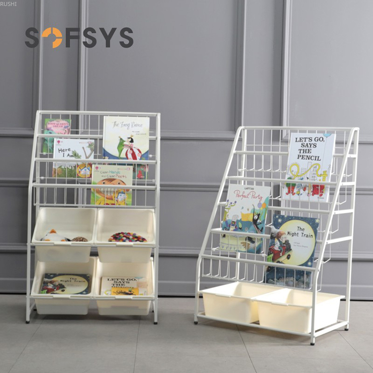 Childrenundefineds Toys Storage Kindergarten Storage Cabinet Sorting Shelves Baby Simple Iron Bookcase| |   - title=