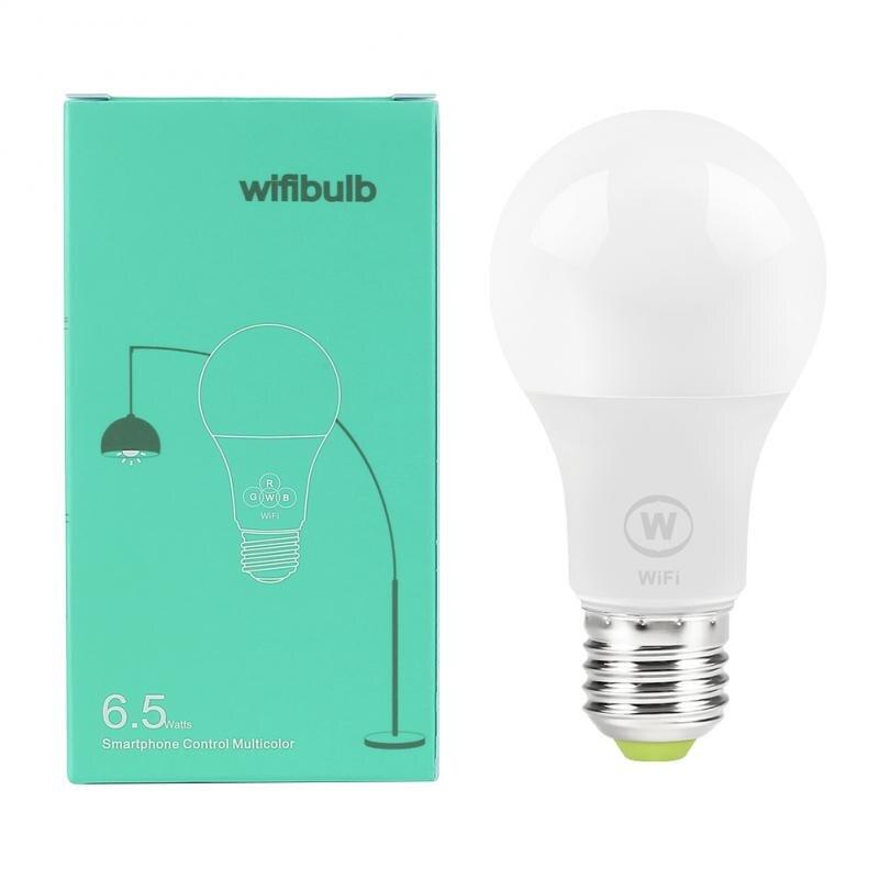 6.5W E27 WiFi Smart Light Bulb LED Lamp App Operate Alexa Google Assistant Voice Control Wake Up Smart Lamp Night Light