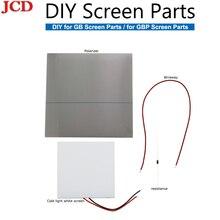JCD Für GB für GBP Backlit Mod Verwenden Cool Weiß LCD Panel Zu Licht Up Bildschirm Hinter Für Gameboy DMG-001 für GameBoy Tasche Objektiv