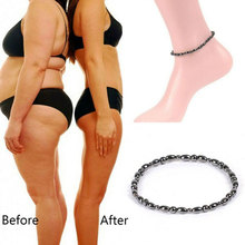 2Pcs Magnetic Weight Loss Effective Anklet Bracelet Black Gallstone Slimming Stimulating Acupoints Therapy Arthritis Pain Relief