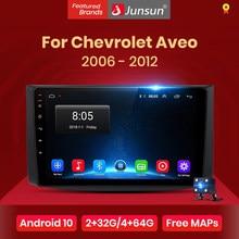 Junsun 4G + 64G Android 10 Voor Chevrolet Aveo T250 2006 - 2012 Auto 2 Din Auto Radio stereo Speler Bluetooth Gps Geen 2din Dvd