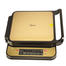 Darmowa wysyłka Midea elektryczne podwójne ogrzewanie inteligentny non stick pieczone naleśnik maszyna do ciasta MC JSN3030C w Elektryczne grille i płyty od AGD na